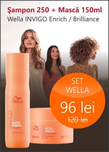Set Wella: Sampon 250ml + Masca 150ml