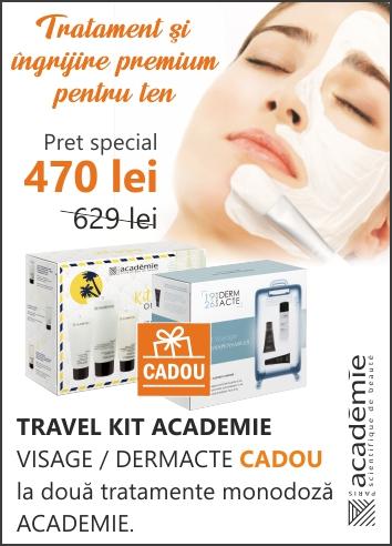 2 x Tratament facial Academie + CADOU in valoare de 159 lei